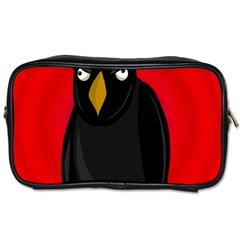 Halloween   Old Raven Toiletries Bags by Valentinaart