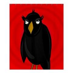 Halloween   Old Raven Shower Curtain 60  X 72  (medium)  by Valentinaart