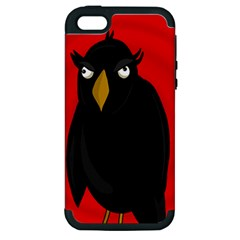 Halloween   Old Raven Apple Iphone 5 Hardshell Case (pc+silicone) by Valentinaart