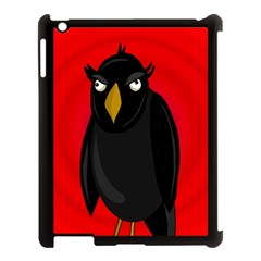 Halloween   Old Raven Apple Ipad 3/4 Case (black) by Valentinaart