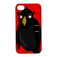 Halloween   Old Raven Apple Iphone 4/4s Hardshell Case With Stand by Valentinaart