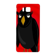 Halloween   Old Raven Samsung Galaxy Alpha Hardshell Back Case by Valentinaart