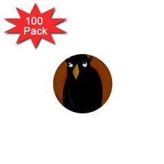 Halloween   Old Black Rawen 1  Mini Buttons (100 Pack)  by Valentinaart