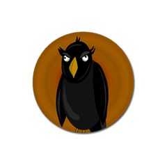 Halloween   Old Black Rawen Magnet 3  (round) by Valentinaart