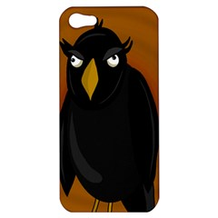 Halloween   Old Black Rawen Apple Iphone 5 Hardshell Case