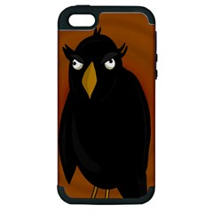 Halloween   Old Black Rawen Apple Iphone 5 Hardshell Case (pc+silicone) by Valentinaart