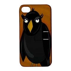Halloween   Old Black Rawen Apple Iphone 4/4s Hardshell Case With Stand by Valentinaart