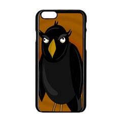 Halloween   Old Black Rawen Apple Iphone 6/6s Black Enamel Case by Valentinaart
