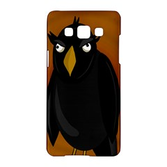 Halloween   Old Black Rawen Samsung Galaxy A5 Hardshell Case  by Valentinaart
