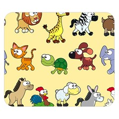 Animal Graphic Group Of Animals Double Sided Flano Blanket (Small)  by Zeze