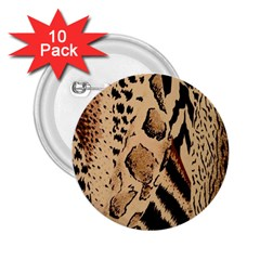 Animal Fabric Pattern 2.25  Buttons (10 pack)  by Zeze