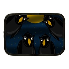 Halloween   Black Crow Flock Netbook Case (medium)  by Valentinaart