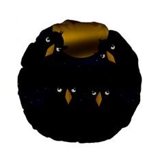 Halloween   Black Crow Flock Standard 15  Premium Flano Round Cushions by Valentinaart
