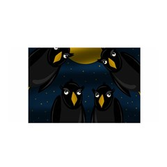 Halloween   Black Crow Flock Satin Wrap by Valentinaart