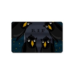 Halloween   Rip Magnet (name Card) by Valentinaart