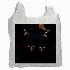 Halloween   Rip Recycle Bag (one Side) by Valentinaart