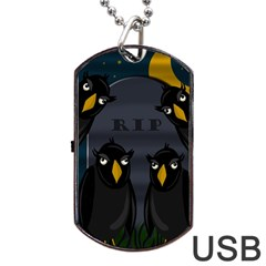 Halloween   Rip Dog Tag Usb Flash (one Side) by Valentinaart