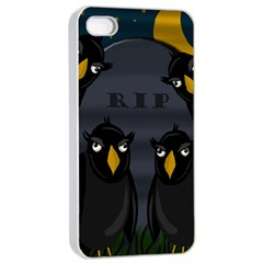 Halloween   Rip Apple Iphone 4/4s Seamless Case (white) by Valentinaart