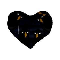Halloween   Rip Standard 16  Premium Flano Heart Shape Cushions by Valentinaart