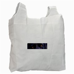 Black Lab Eyes Recycle Bag (Two Side)  by TailWags