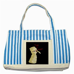 Halloween Mummy   Striped Blue Tote Bag by Valentinaart
