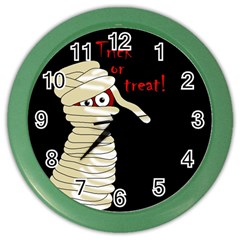 Halloween Mummy   Color Wall Clocks by Valentinaart