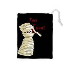 Halloween Mummy   Drawstring Pouches (medium)  by Valentinaart