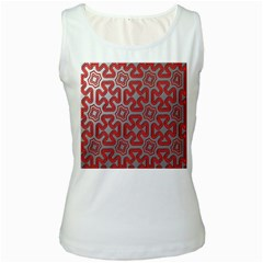 Christmas Wrap Pattern Women s White Tank Top by Zeze
