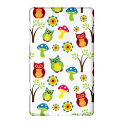 Cute Owl Wallpaper Pattern Samsung Galaxy Tab S (8.4 ) Hardshell Case  by Zeze