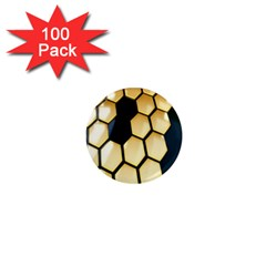 Honeycomb Yellow Rendering Ultra 1  Mini Magnets (100 Pack)