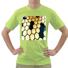 Honeycomb Yellow Rendering Ultra Green T Shirt by AnjaniArt