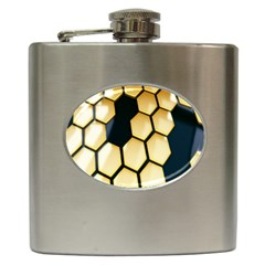 Honeycomb Yellow Rendering Ultra Hip Flask (6 Oz) by AnjaniArt