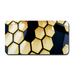 Honeycomb Yellow Rendering Ultra Medium Bar Mats by AnjaniArt