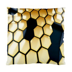 Honeycomb Yellow Rendering Ultra Standard Cushion Case (two Sides) by AnjaniArt