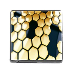 Honeycomb Yellow Rendering Ultra Memory Card Reader (square) by AnjaniArt
