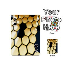 Honeycomb Yellow Rendering Ultra Playing Cards 54 (mini)  by AnjaniArt