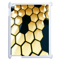 Honeycomb Yellow Rendering Ultra Apple Ipad 2 Case (white) by AnjaniArt