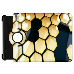 Honeycomb Yellow Rendering Ultra Kindle Fire Hd Flip 360 Case by AnjaniArt