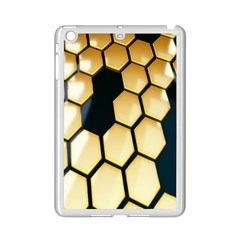 Honeycomb Yellow Rendering Ultra Ipad Mini 2 Enamel Coated Cases by AnjaniArt