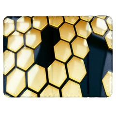 Honeycomb Yellow Rendering Ultra Samsung Galaxy Tab 7  P1000 Flip Case by AnjaniArt
