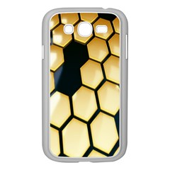 Honeycomb Yellow Rendering Ultra Samsung Galaxy Grand Duos I9082 Case (white) by AnjaniArt