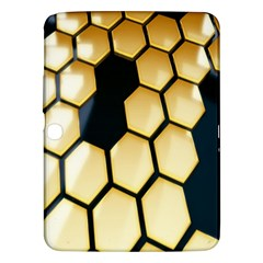 Honeycomb Yellow Rendering Ultra Samsung Galaxy Tab 3 (10 1 ) P5200 Hardshell Case  by AnjaniArt
