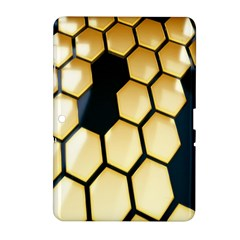 Honeycomb Yellow Rendering Ultra Samsung Galaxy Tab 2 (10 1 ) P5100 Hardshell Case  by AnjaniArt
