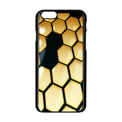 Honeycomb Yellow Rendering Ultra Apple Iphone 6/6s Black Enamel Case by AnjaniArt