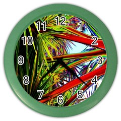 Kostenloses Leaves Color Wall Clocks