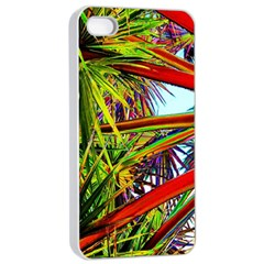 Kostenloses Leaves Apple Iphone 4/4s Seamless Case (white) by AnjaniArt