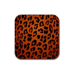 Leopard Patterns Rubber Square Coaster (4 Pack)  by AnjaniArt