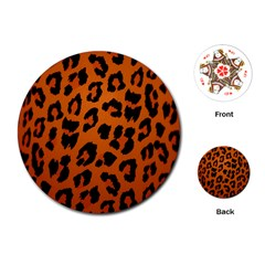 Leopard Patterns Playing Cards (Round)  by AnjaniArt