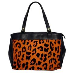 Leopard Patterns Office Handbags (2 Sides)  by AnjaniArt