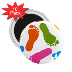 Lip Handprint 2 25  Magnets (10 Pack)  by AnjaniArt
